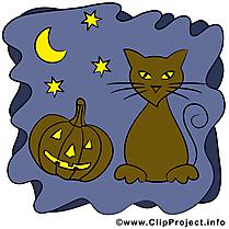Chat nuit clipart gratuit - Halloween images