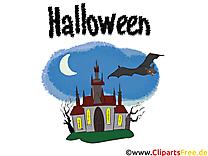 Château dessin - Halloween à télécharger