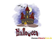 Château dessin gratuit - Halloween image