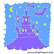 Château illustration - Halloween images