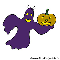 Clip art gratuit phantôme - Halloween dessin