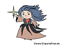 Clip art gratuit sorcière – Halloween images