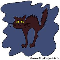 Dessin chat noir - Halloween à télécharger