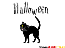 Dessin chat noir - Halloween cliparts à télécharger