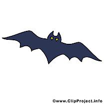 Dessin chauve-souris - Halloween cliparts à télécharger