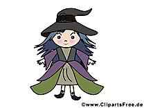 Dessin gratuit sorcière - Halloween image