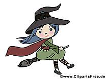 Dessin sorcière - Halloween à télécharger
