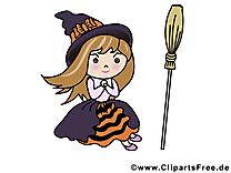 Dessin sorcière - Halloween cliparts à télécharger