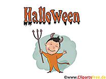 Diable illustration gratuite - Halloween clipart