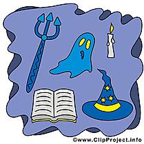 Épouvante clip arts gratuits - Halloween illustrations
