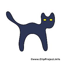 Halloween chat noir image à télécharger gratuite