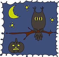 Hibou nuit cliparts gratuis - Halloween images