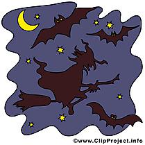 Nuit sorcière image gratuite - Halloween illustration
