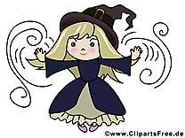 Sorcière clip art gratuit - Halloween dessin