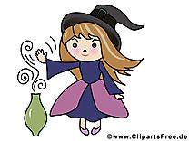 Sorcière images - Halloween clip art gratuit