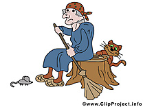 Souche sorcière clipart - Halloween dessins gratuits