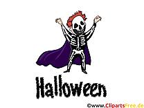 Squelette clip art – Halloween gratuite