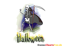 Squelette halloween illustration à télécharger gratuite