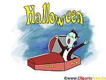 Vampire illustration gratuite - Halloween clipart