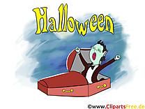 Vampire illustration gratuite - Halloween clipart