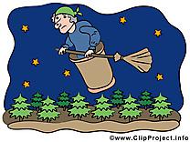 Vieille sorcière dessins gratuits - Halloween clipart