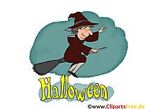 Vieille sorcière images gratuites – Halloween clipart