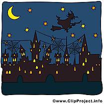 Ville nuit dessin à télécharger - Halloween images