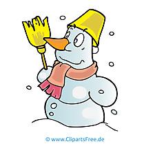 Bonhomme de neige clip arts gratuits – Hiver illustrations