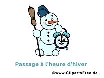 Bonhomme de neige dessin à télécharger - Hiver images