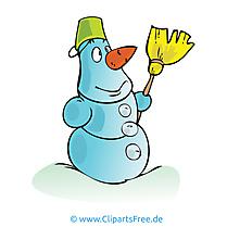 Bonhomme de neige image gratuite – Hiver illustration