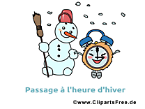Bonhomme de neigeclipart gratuit - Hiver images