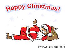 Clip arts gratuits père noël – Noël illustrations