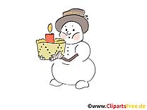 Cliparts gratuis bonhomme de neige - Hiver images