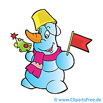 Drapeau bonhomme de neige image – Hiver images cliparts