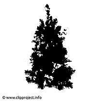 Graphique de la silhouette sapin de noël
