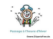 Hiver clipart - Ski réveil dessins gratuits