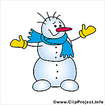 Image bonhomme de neige gratuite - Hiver cliparts