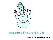 Image gratuite bonhomme de neige - Hiver illustration