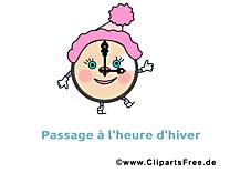 Image réveil gratuite - Hiver images cliparts