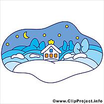 Neige clip arts gratuits - Hiver illustrations