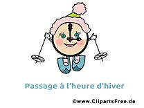 Pendule ski image gratuite - Hiver illustration