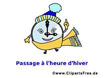 Réveil dessins gratuits - Hiver clipart