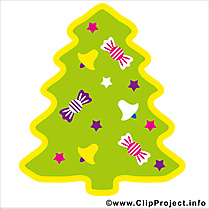 Sapin clipart, card, image gratuite