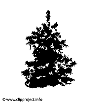 Sapin de Noël image, clipart, ecard