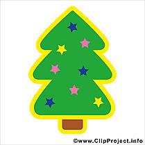 Sapins de Noël clip art, image, cartoon gratuite