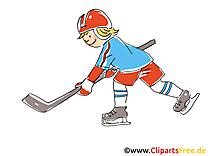 Clip art gratuit cross - Hockey dessin