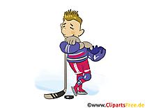 Clip art gratuit joueur  – Hockey images