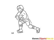 Cliparts gratuis à imprimer joueur - Hockey images