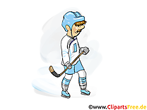 Cross clip art – Hockey gratuite