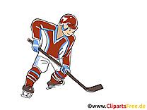 Cross dessin - Hockey clip arts gratuits